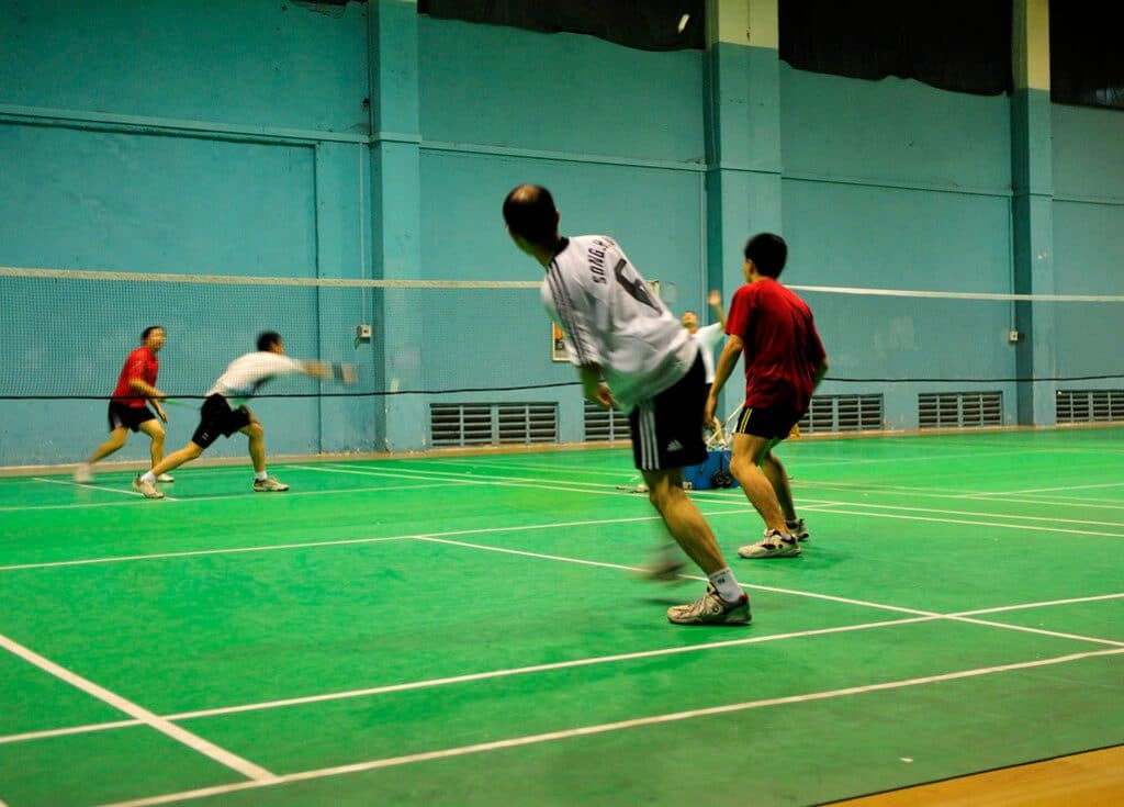 badminton doubles rally