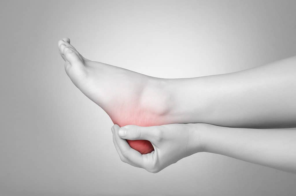 Ankle sprain in badminton